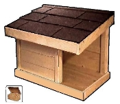 JUMBO Outdoor Cat Feeding Shelter