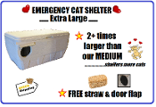 Extra Large Emergency Cat Shelter Home