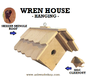 Wren House Shaker Roof hanging