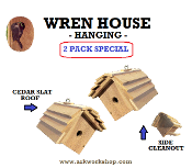 Wren House 2 PACK - SLAT ROOF