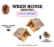 Wren House 2 PACK - STANDARD ROOF