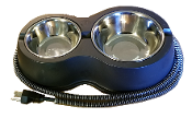 Ark Workshop DOUBLE Heated Water-Food Bowl