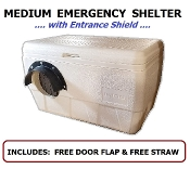 Medium Emergency Cat Shelter with Entrance Shield