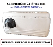 Extra Large Emergency Cat Shelter with Entrance Shield